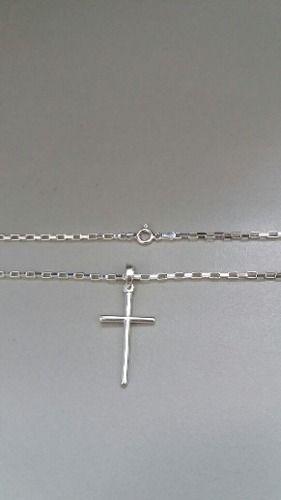 Cordão Corrente Cartier Prata 925 70 Cm 2,2 Mm + Cruz Palito