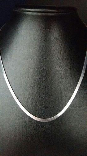 Colar Feminino - Prata 925 - Laminado Liso - 45 Cm - 3mm