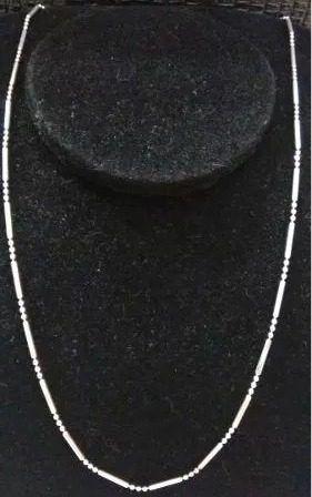 Colar - Prata 925 - Bolinha Com Tracinho - 45cm - 2,1 Gramas