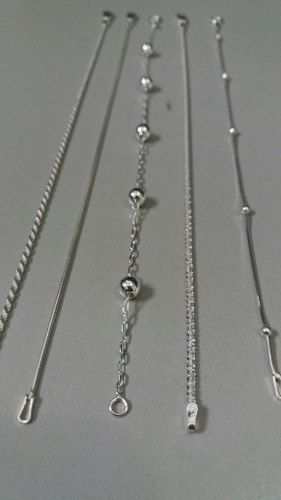 Conjunto Com 5 Pulseiras Femininas Em Prata 925 Maciça