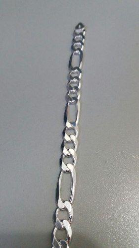 Pulseira Masculina Elos 3x1 21 Cm 9 Mm 18 Gramas Prata 925