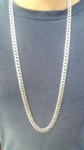 Cordão Corrente Grumet 90 Cm 9 Mm 63,5 Gramas Em Prata 925