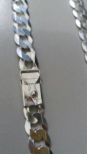 Corrente Italiano Grumet Prata 925 70cm 11 Mm / Fecho Gaveta