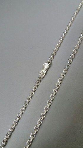 Cordão Estilo Corrente Prata 925 70 Cm 3,5 Mm Fecho Gaveta
