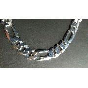 Corrente Grumet - Prata 925 - 60cm - Elos 3x1 9 Mm 41,6 Gr