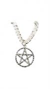 Pingente Em Prata 925 Legítima Modelo Estrela Pentagrama 1,5 Gr