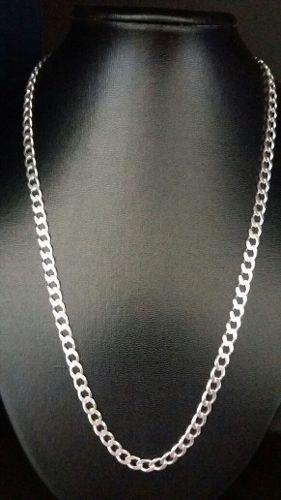 Corrente Italiana Grumet Em Prata 925 60cm 6 Mm Fecho Gaveta