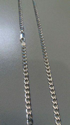Corrente Italiana Grumet Prata 925 Maciça 70 Cm 4,3 Mm 15gr