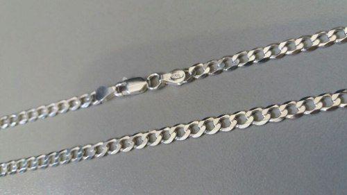 Corrente Italiana Grumet Prata 925 Maciça 70 Cm 4,1 Mm 12gr