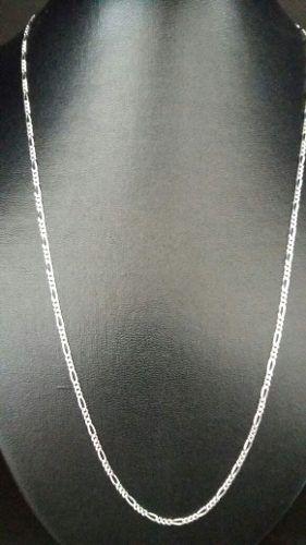Corrente Fina Prata 925 Elos 3 Em 1 60 Cm 2,4 Mm 5 Gramas