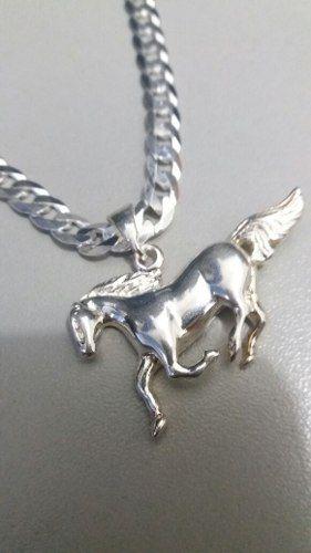 Pingente Em Prata 925 Maciça Modelo Cavalo 5,6 Gramas