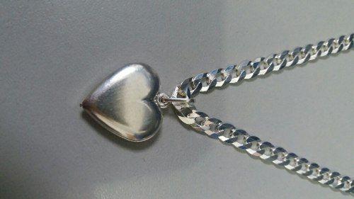 Pingente Em Prata 925 Modelo Coração Oco 2,4 Gramas