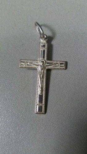Pingente Crucifixo Em Prata 925 Maciça 1,7 Gramas 3 X 1,7 Cm