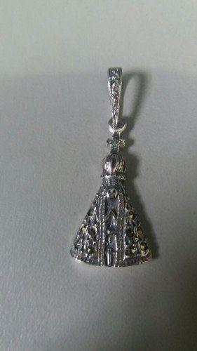 Pingente Em Prata 925 Nossa Senhora Aparecida 2,1 Gramas