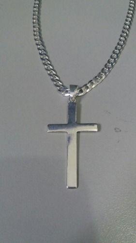 Pingente Em Prata 925 Modelo Cruz 4,5 X 2,5 Cm 3 Gramas