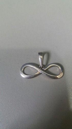 Pingente Em Prata 925 Símbolo Infinito 1 Grama 1 X 2,7 Cm