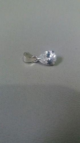 Lindo Pingente Em Prata 925 Modelo Pingo C Pedra De Zircônia