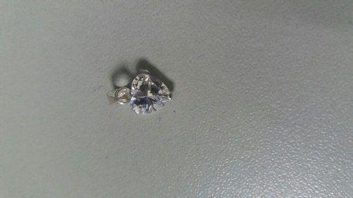 Lindo Pingente Em Prata 925 Modelo Coração C/ Pedra Zircônia