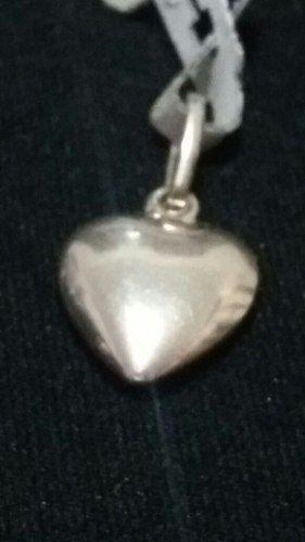 Pingente - Prata 925 - Coração - Largura 1cm - Altura 1,5cm