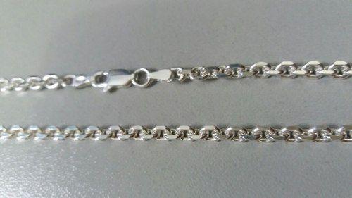 Cordão Prata 925 Maciça Estilo Corrente 70 Cm 3,5 Mm 20,2 Gr