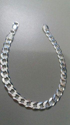 Pulseira Masculina Grumet Em Prata 925 7 Mm 21 Cm 9 Gramas