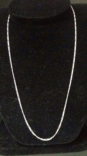 Corrente Fina Prata Maciça 925 Elos 3 Em 1 60 Cm 2 Mm 3,5 Gr
