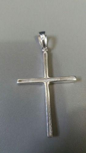 Lindo Pingente Cruz Oca Em Prata 925 Maciça 3,2 Gramas 4,5cm