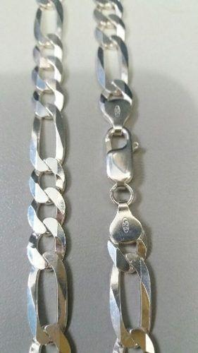 Corrente Elos 3x1 70 Cm 8,5 Mm 51 Gramas Em Prata 925 Maciça