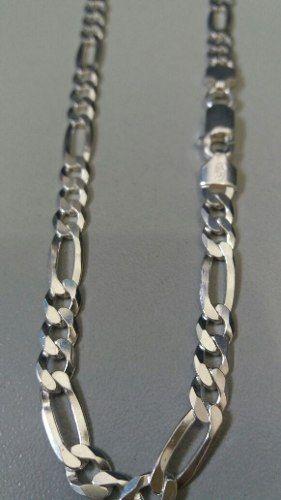 Promoção Corrente Elos 3x1 60 Cm 5,5 Mm Em Prata Maciça 925