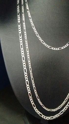 Promoção 3 Correntes Em Prata 925 Maciça Modelo Elos 3 X 1