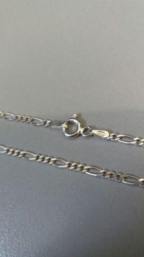 Corrente Em Prata 925 Maciça Elos 3x1 50 Cm 2,5mm 4,4 Gramas