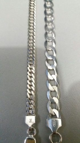 Conjunto Duas Pulseiras Em Prata 925 Maciça Grumet 16,9 Gr.