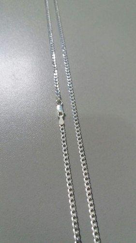 Corrente Italiana Grumet Fina 70 Cm 3,1mm 7 Gramas Prata 925