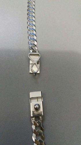 Corrente Grumet Prata 925 Maciça 87 Cm 6,6 Mm C/ Fecho Gavet