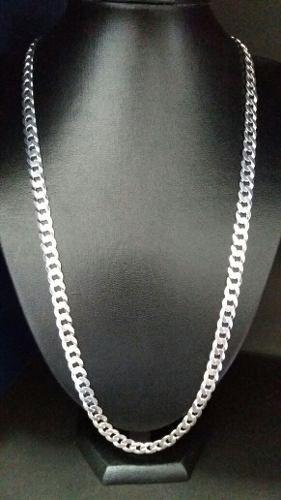 Corrente Cordão Grumet 70 Cm 8 Mm Prata 925 Maciça 48 Gramas