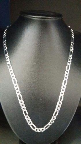 Corrente Elos 3x1 60 Cm 7 Mm Em Prata 925 Maciça 25,6 Gramas
