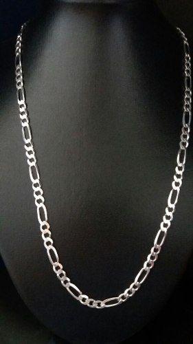 Promoção Corrente Elos 3x1 70 Cm 6 Mm Em Prata Maciça 925