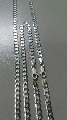 Corrente Grumet Prata 925 70 Cm 4 Mm + Pulseira 4 Mm