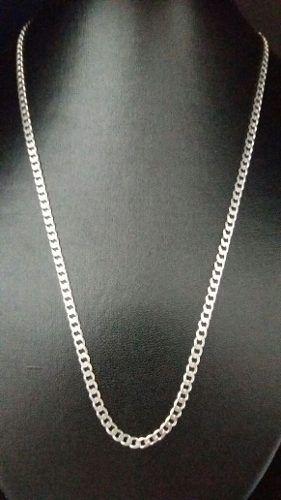 Corrente Grumet 55 Cm Em Prata 925 Maciça 3,9 Mm 12 Gramas