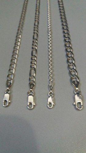 Conjunto Com 4 Pulseiras Masculinas Em Prata 925 Legítima