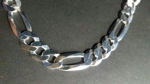 Corrente Grumet - Prata 925 - 80cm - Elos 3x1 9mm 50 Gramas