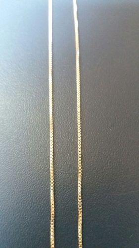 Corrente Veneziana De 40cm Em Prata 925 - 1.2grs + Pingente