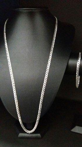 Corrente Grumet Prata 925 70 Cm + Pulseira 4,5 Mm + Pingente