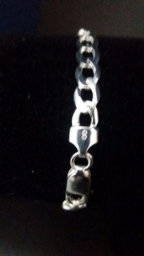 Pulseira Prata 925 Grumet 9,5 Gramas Com Gravação De Nome