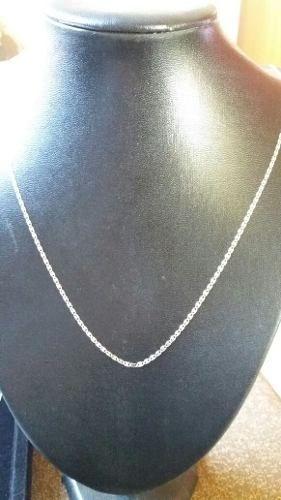 Corrente Piastrine Em Prata 925 Maciça 45 Cm 2 Mm 1,9 Gramas