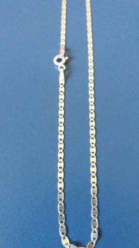 Corrente Piastrine Em Prata 925 Maciça 60 Cm 2 Mm 2,6 Gramas