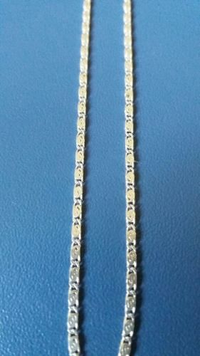Colar Fino Em Prata 925 Maciça Estilo Caracol 55 Cm 1,5 Mm