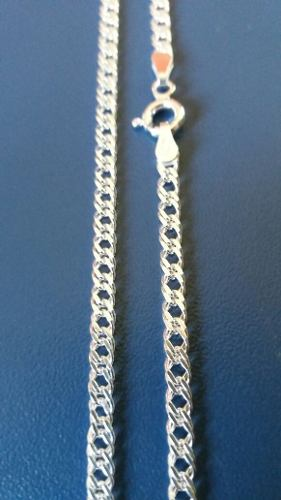 Corrente Em Prata Maciça 925 70cm X 3mm Elo Duplo 8,2 Gramas