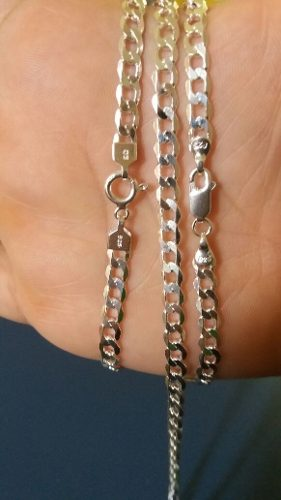 Corrente Prata Maciça 925 Elos Grumet Grossa 60cm +pulseira