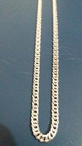 Corrente Masculina Prata Maciça 925 70 Cm X 4,3 Mm Elo Duplo